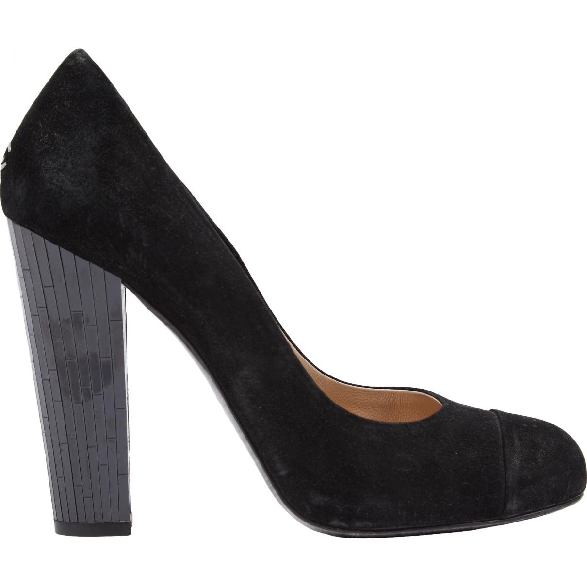 Chanel \N Black Suede Heels for Women 40.5 EU