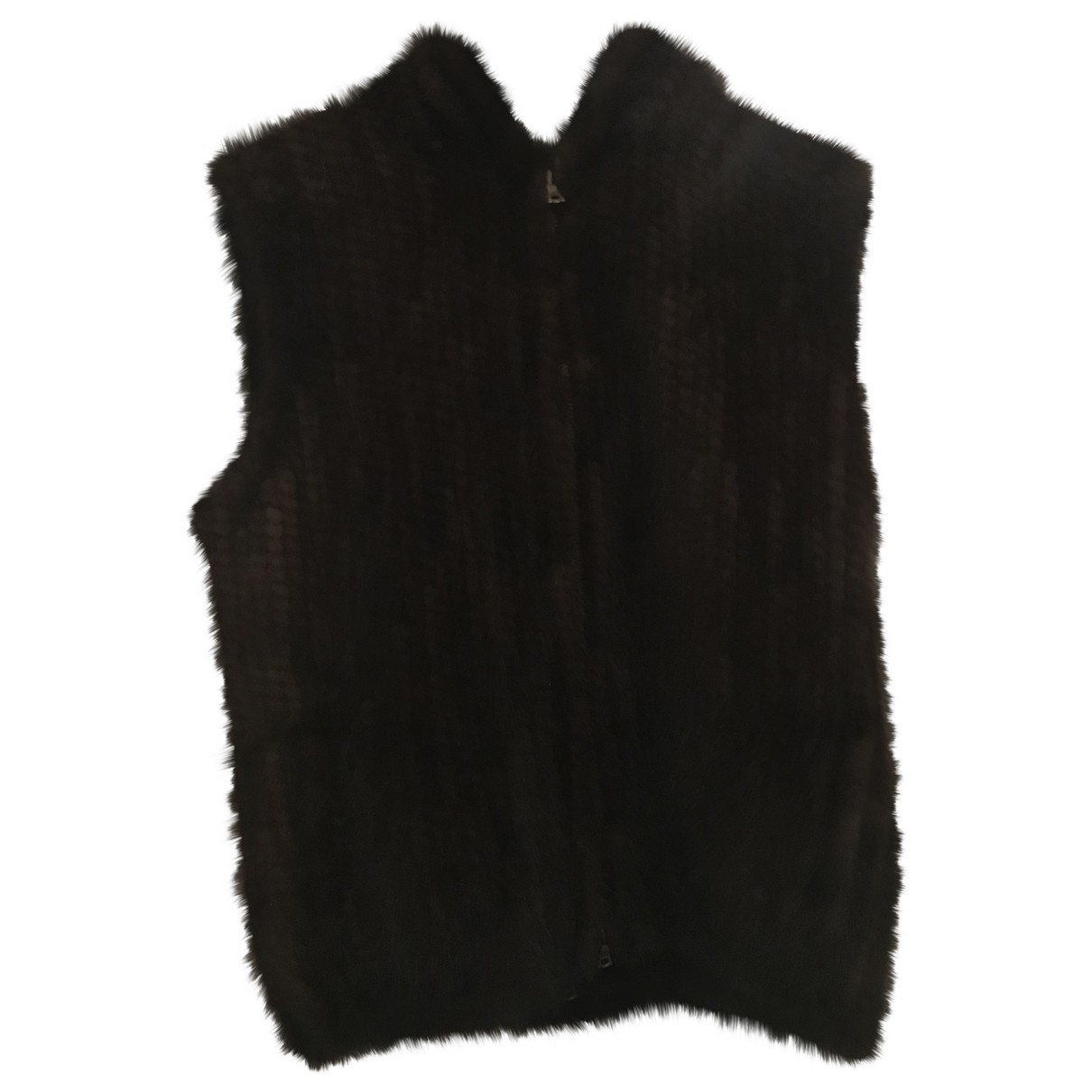Non Signé / Unsigned \N Brown Mink Knitwear for Women 42 IT