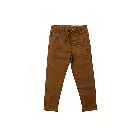 Hollywood Knit Twill Big Boys Straight Flat Front Pant, Large (14-16) , Brown
