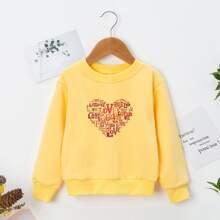 Sweatshirt mit Herzen & Buchstaben Grafik