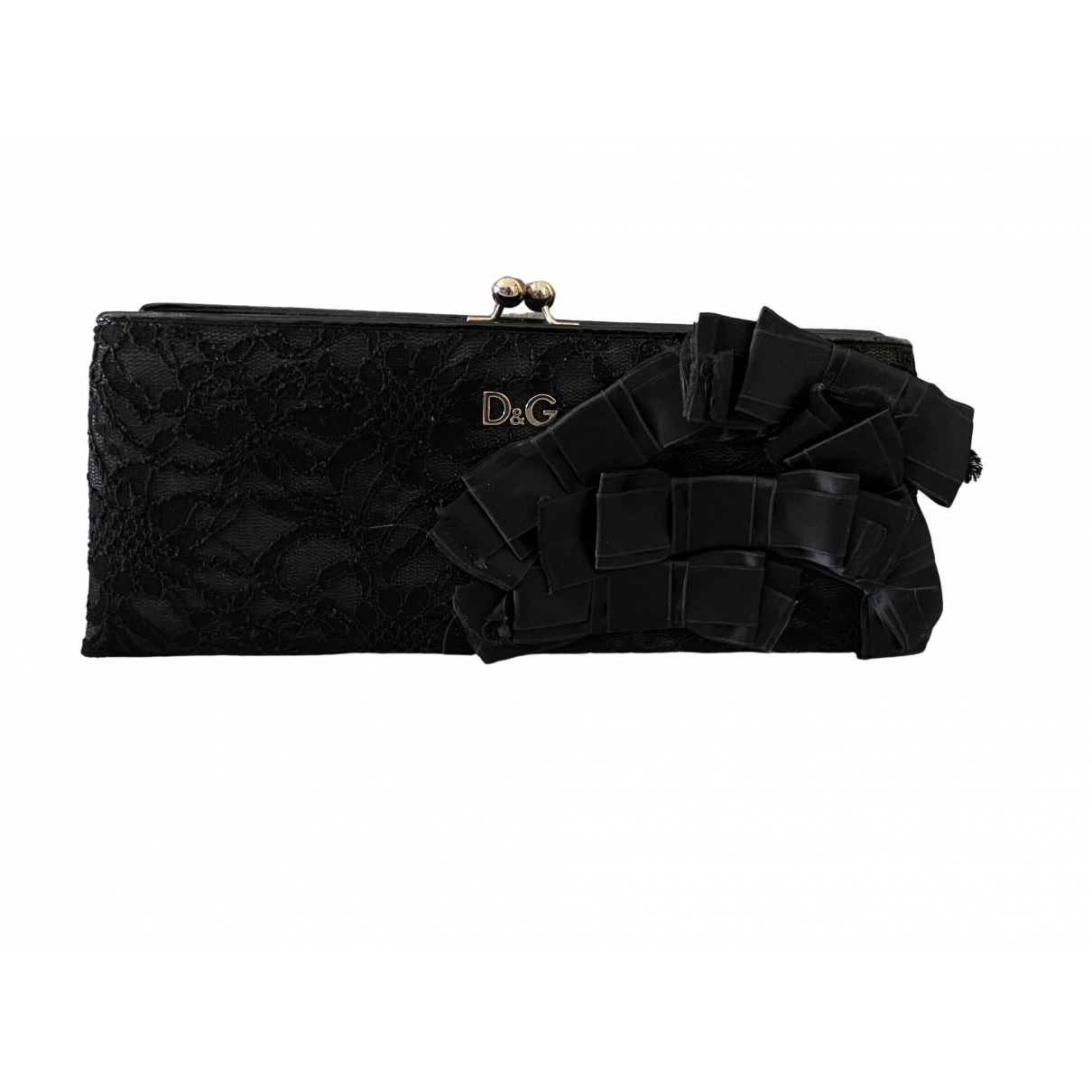 D&g \N Black Leather Clutch bag for Women \N
