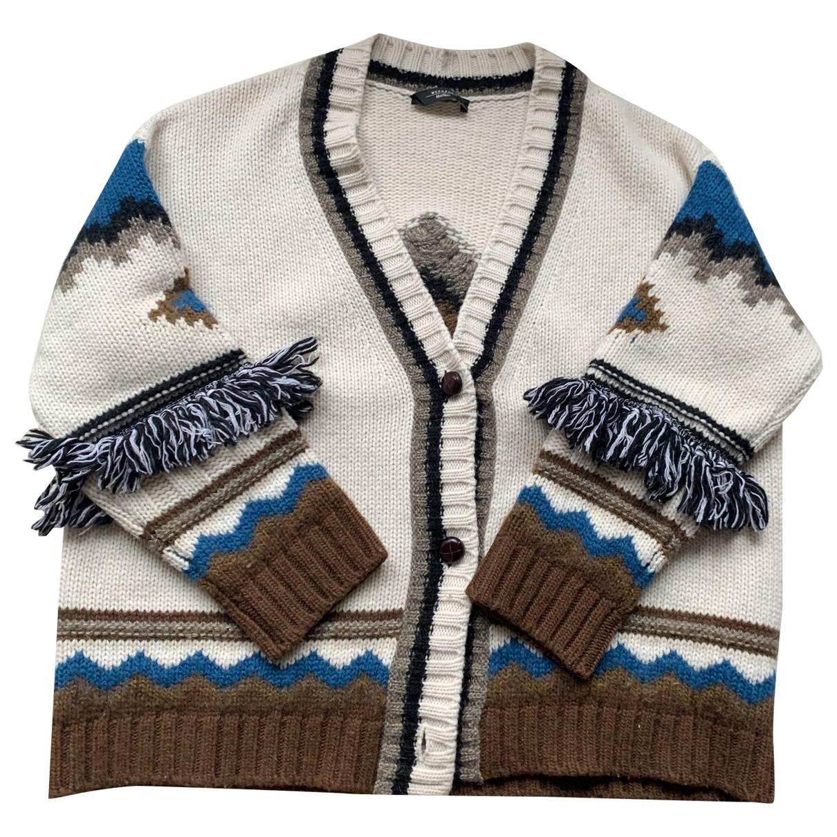 Max Mara Weekend - Pull   pour femme en laine - blanc