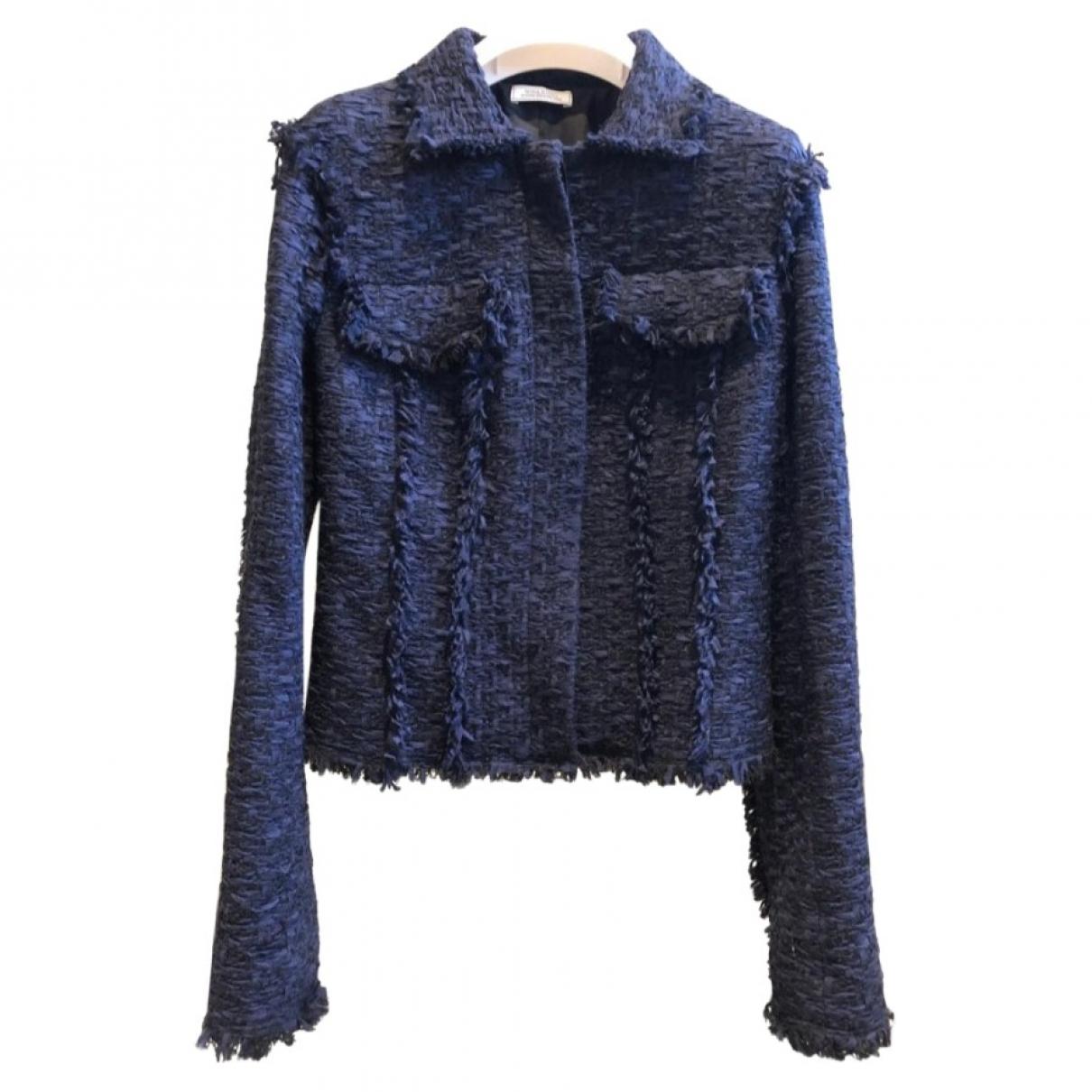 Nina Ricci - Veste   pour femme en soie - bleu
