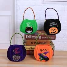 1pc Halloween Pattern Random Candy Bag
