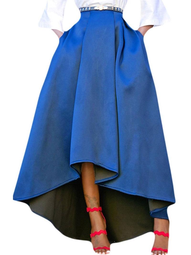 Ericdress Asymmetric Plain Asymmetrical Casual Skirt