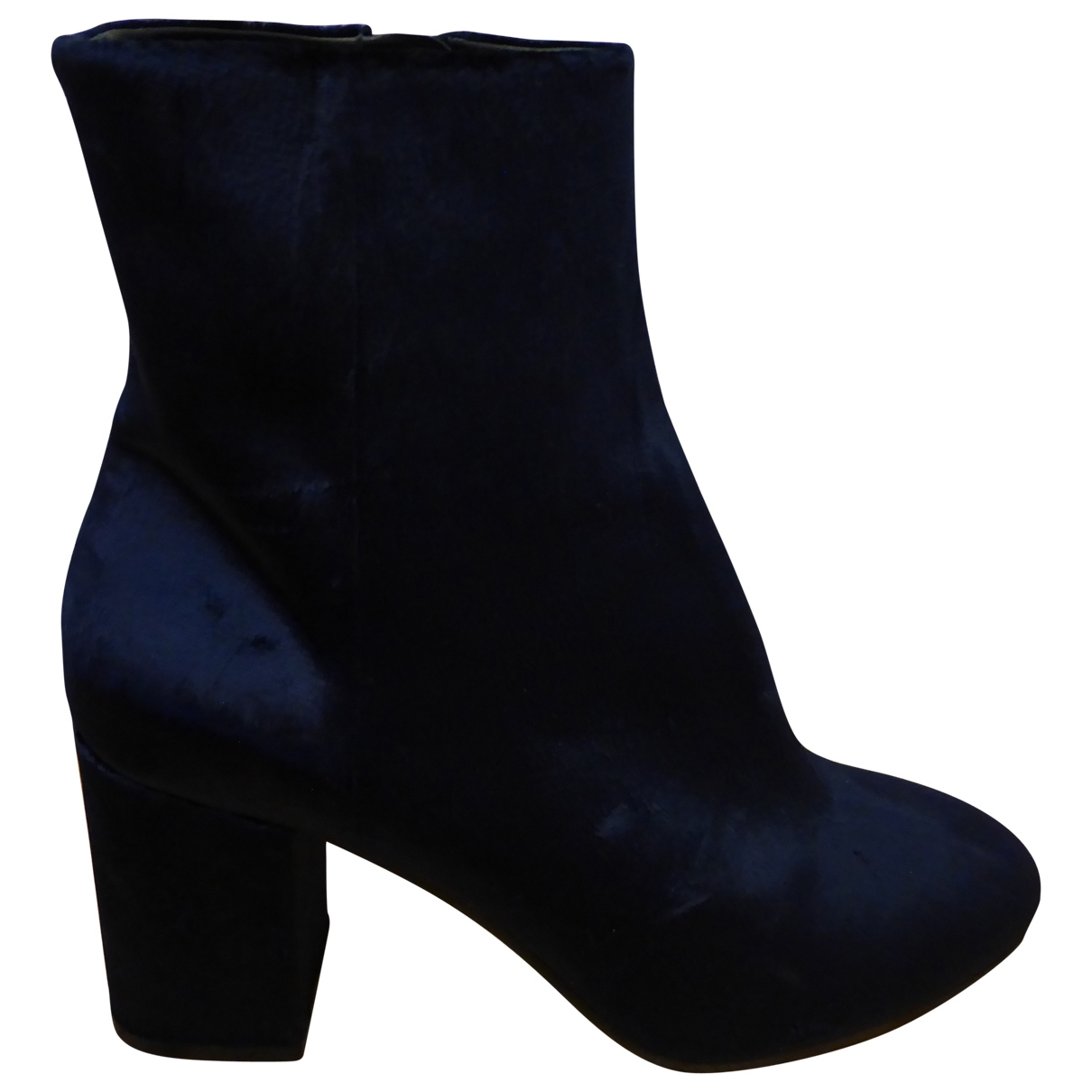 Balenciaga \N Navy Suede Ankle boots for Women 37 EU