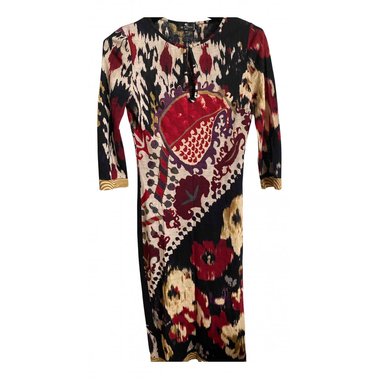 Etro - Robe   pour femme en laine - multicolore