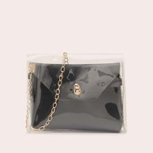 Clear Crossbody Bag With Inner Bag