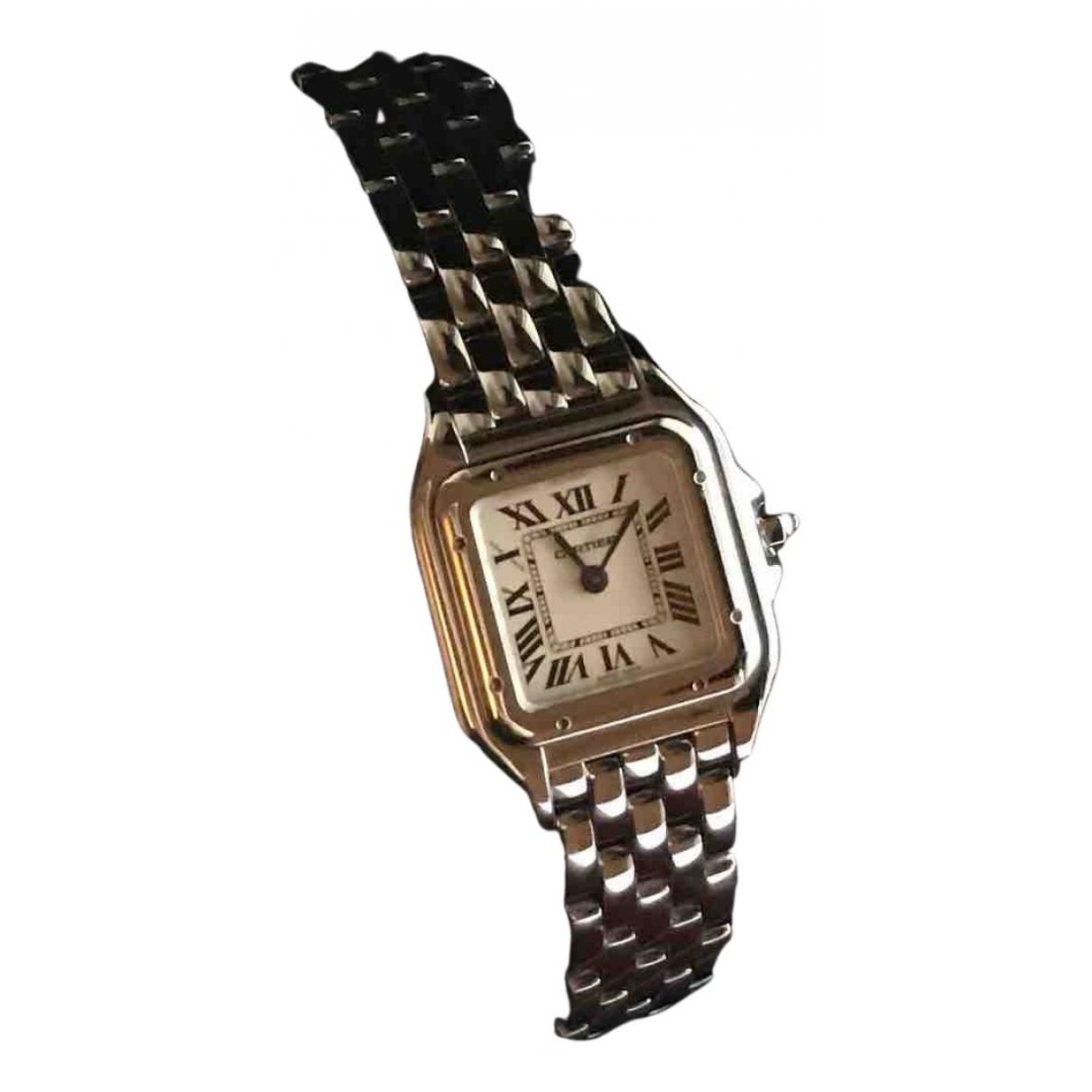 Cartier - Montre Panthere pour femme en acier - argente