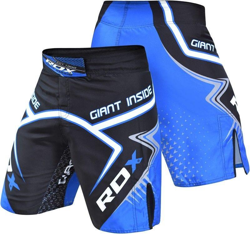 RDX R7 Short de MMA Petite Bleu Polyester