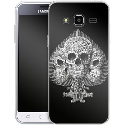 Samsung Galaxy J3 (2016) Silikon Handyhuelle - Skull Spade von BIOWORKZ