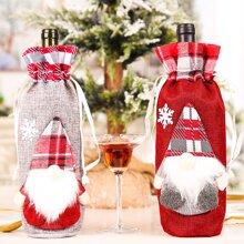 Tapa de botella de vino de navidad 1 pieza