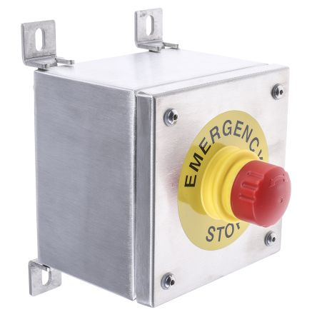 Craig & Derricott Surface Mount Round Head Emergency Button - NC, Pull to Reset, 38mm, Red/Unpainted