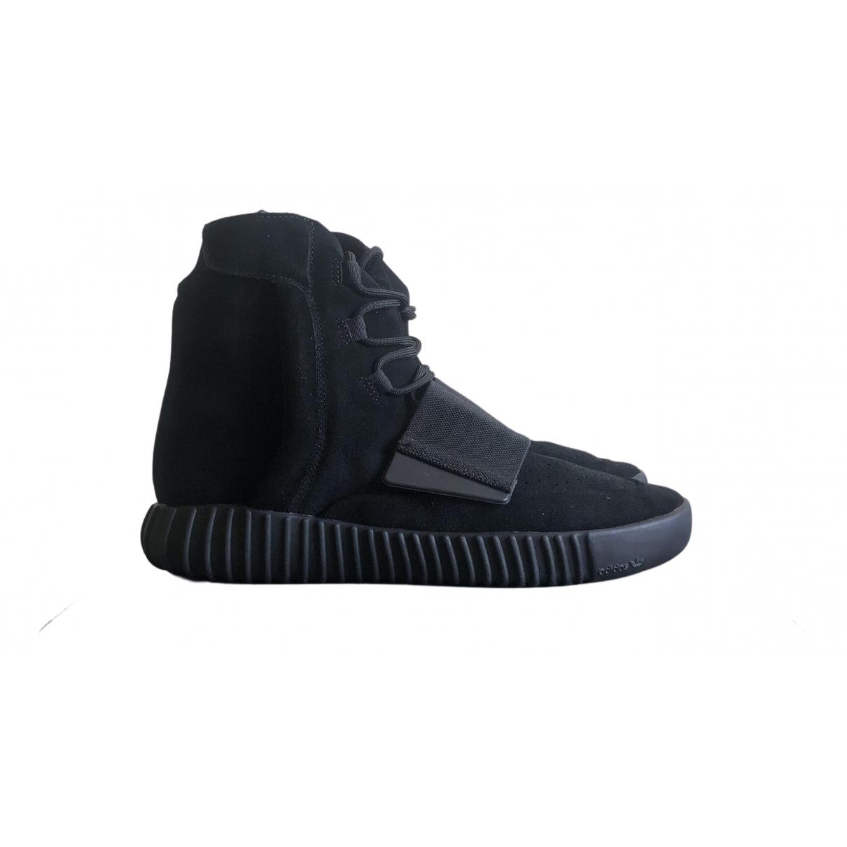 Yeezy X Adidas - Bottes.Boots Boost 750  pour homme en toile - noir