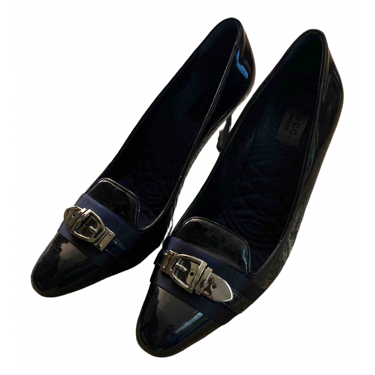 Gucci N Black Patent leather Heels for Women 39.5 EU