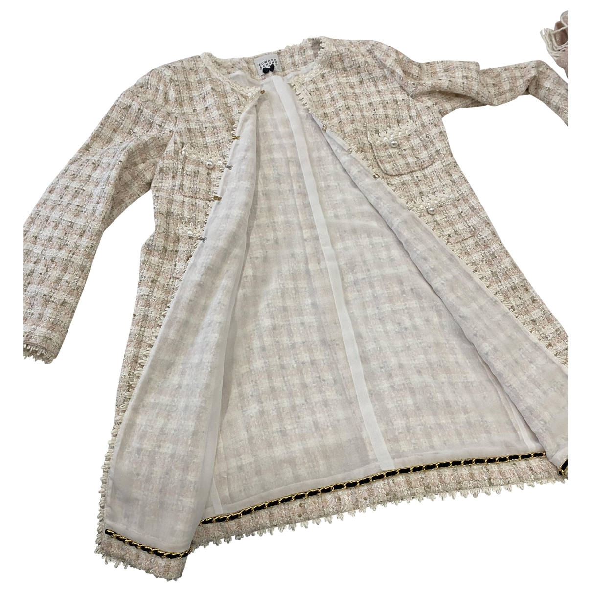 Edward Achour - Veste   pour femme en tweed - beige