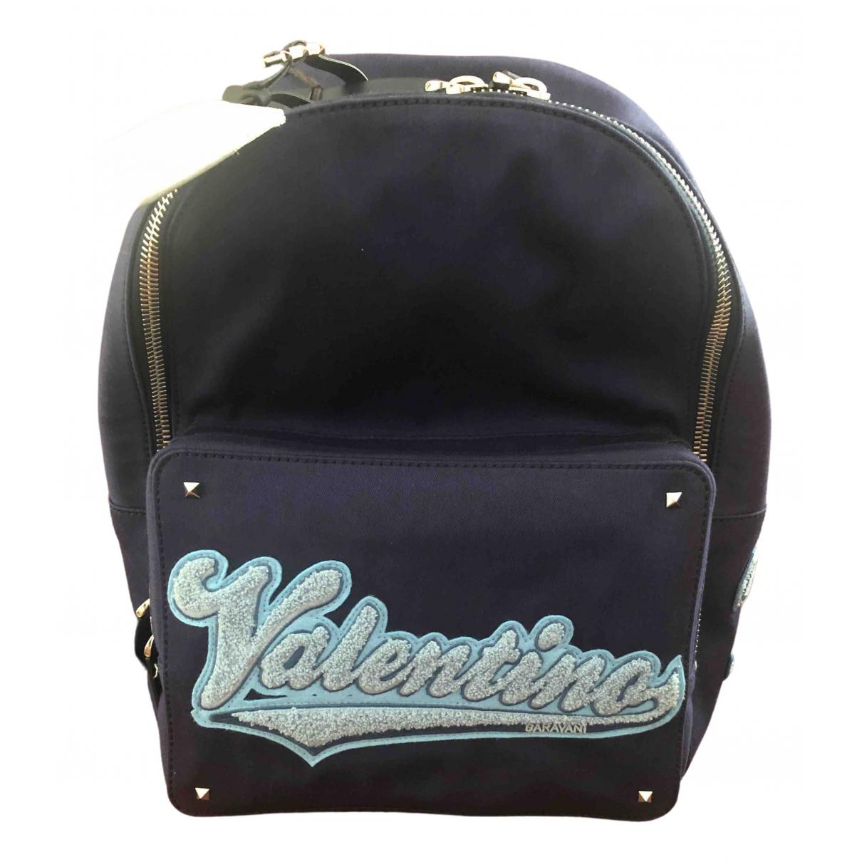 Valentino Garavani \N Blue Cloth backpack for Women \N