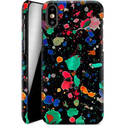 Apple iPhone XS Smartphone Huelle - Colourful Splatter von Amy Sia