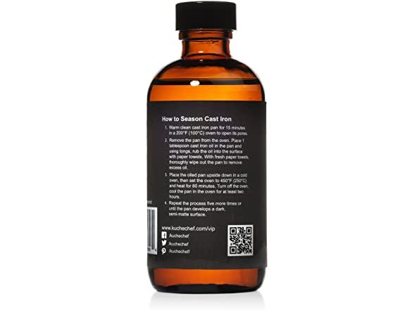 Organic Cast Iron Oil And Conditioner