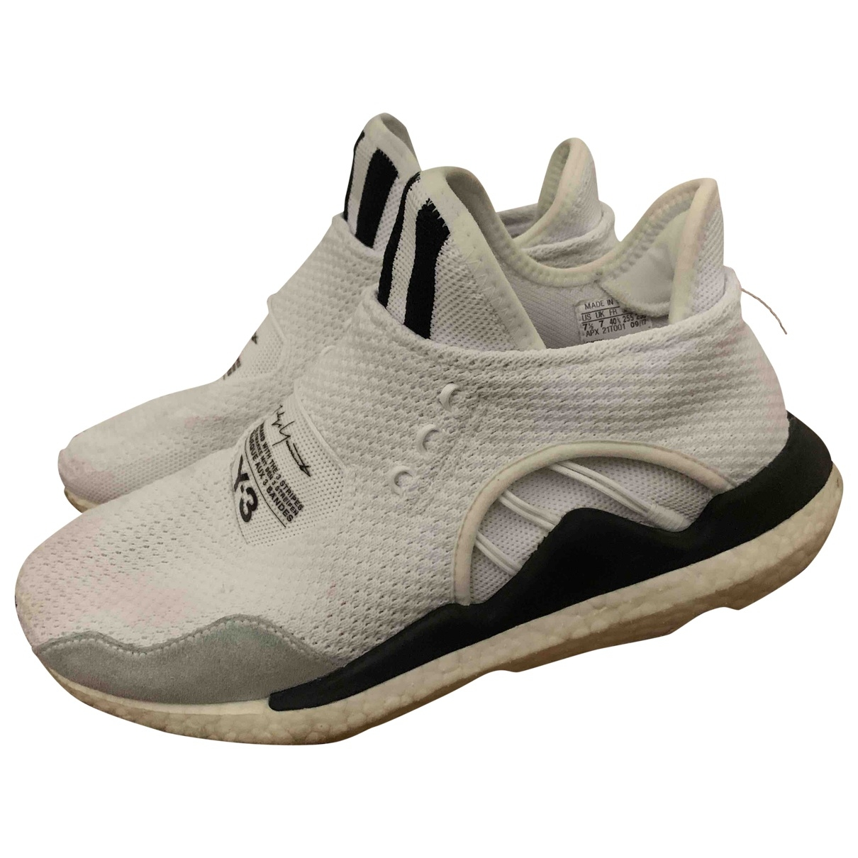 Y-3 \N White Cloth Trainers for Men 7.5 US