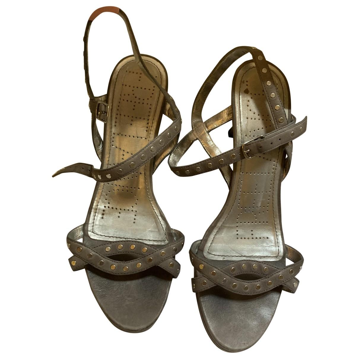Free Lance - Escarpins   pour femme en cuir - gris