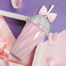 1pc Bow Detail Straw Cup