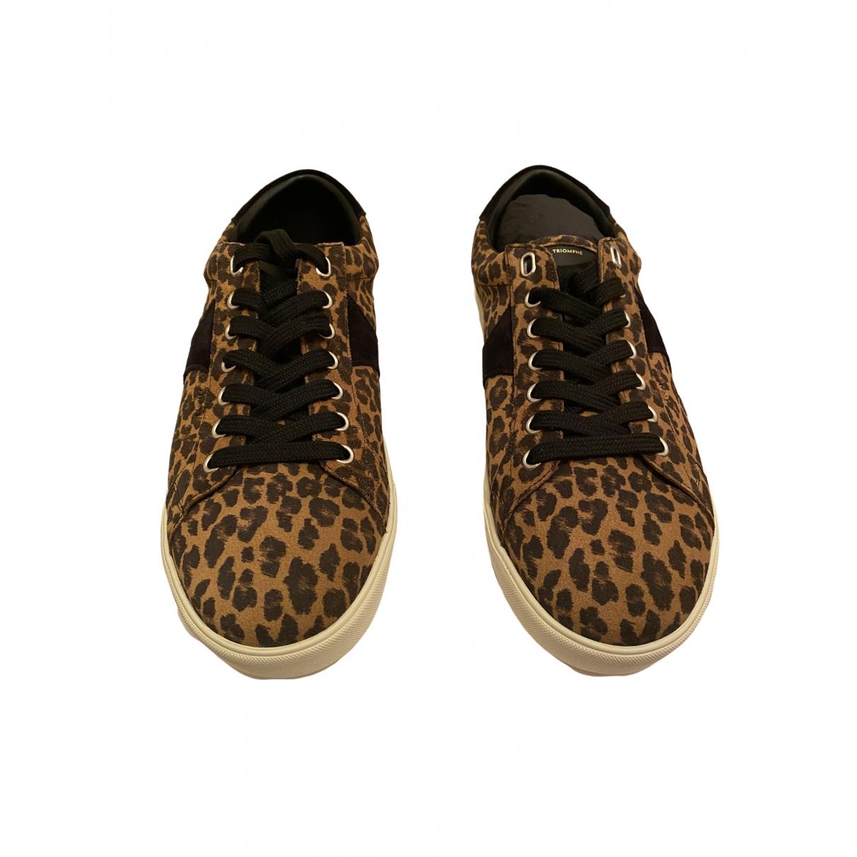 Celine \N Sneakers in  Braun Leder