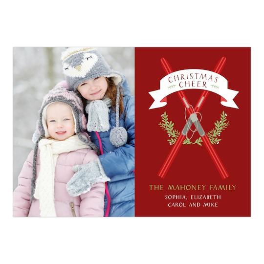 Gartner Studios® Personalized Ski House Holiday Photo Card   Michaels®