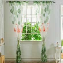 1pc Flamingo Pattern Mesh Curtain