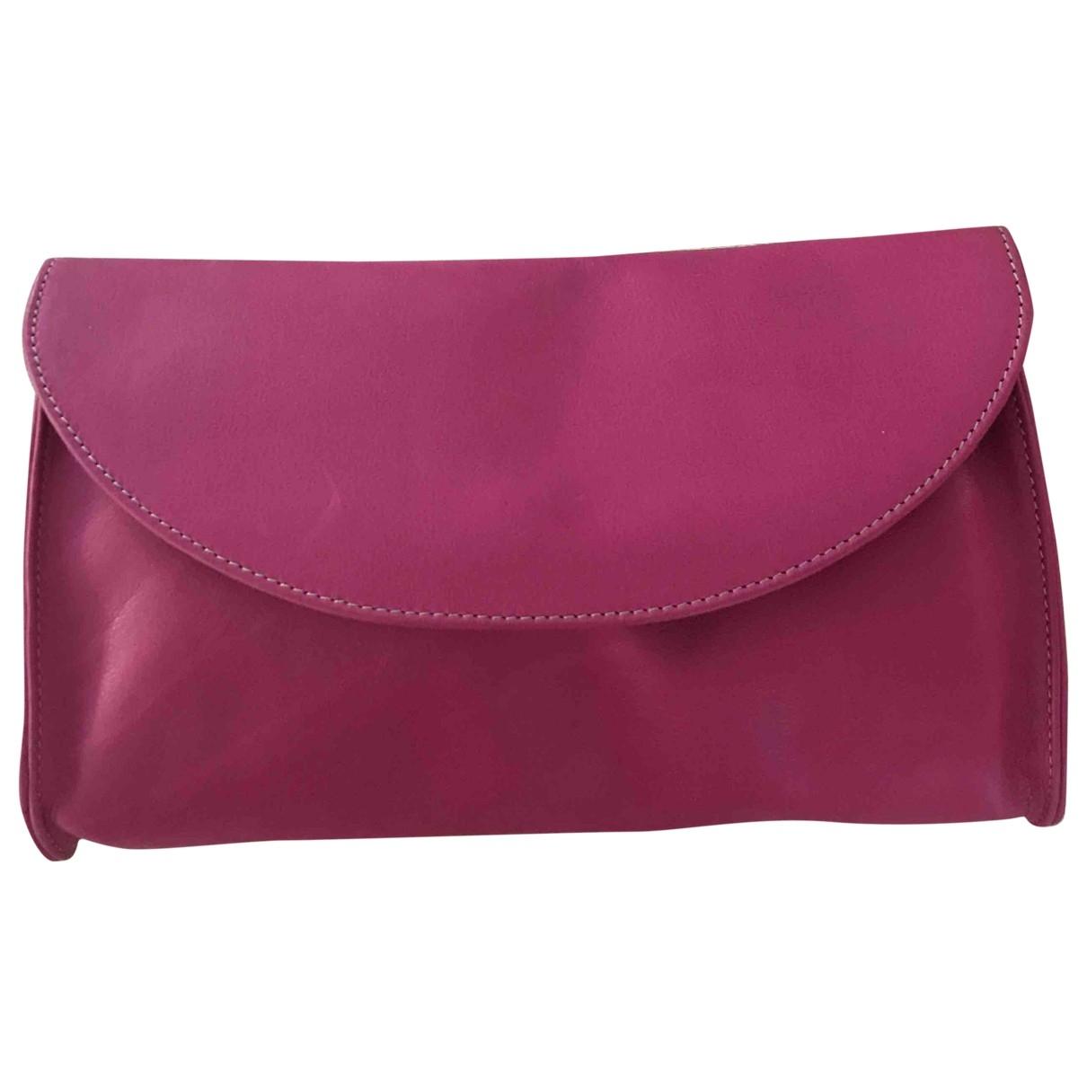 - Pochette   pour femme en cuir - rose