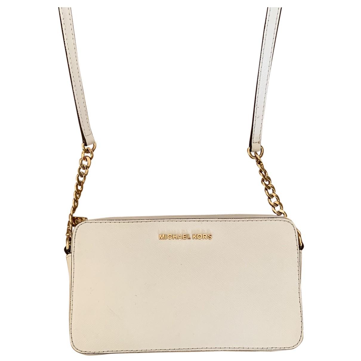 Michael Kors Jet Set White Leather Clutch bag for Women N