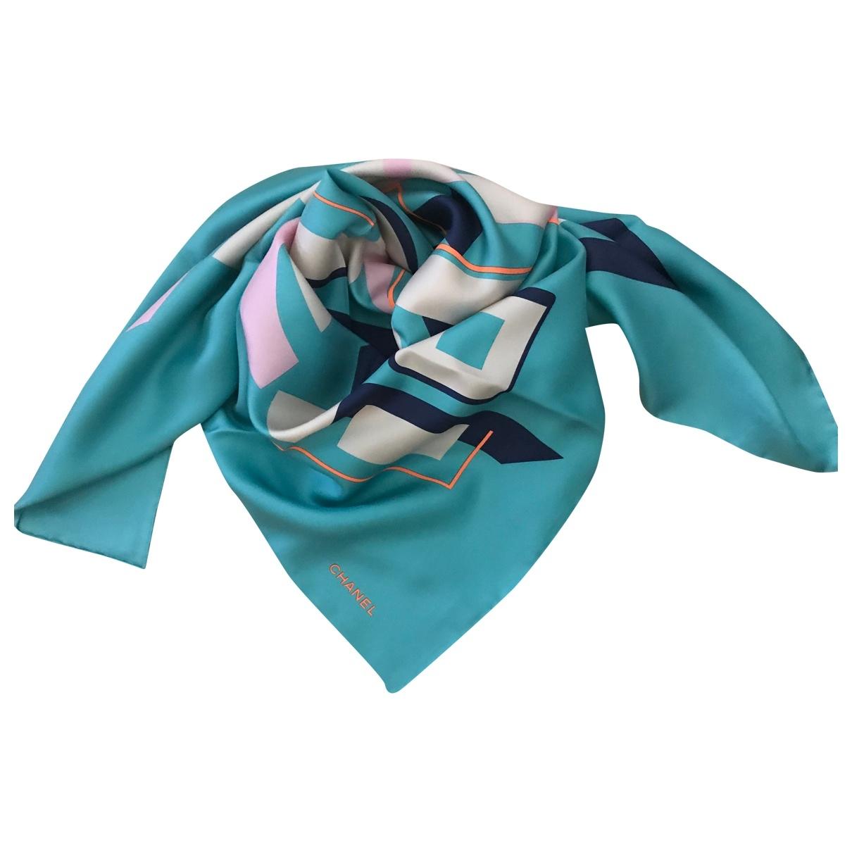 Chanel \N Schal in  Blau Seide