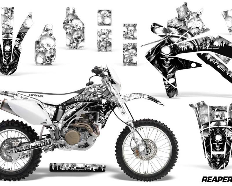 AMR Racing Dirt Bike Decal Graphics Kit Sticker Wrap For Honda CRF450X 2005-2016áREAPER WHITE