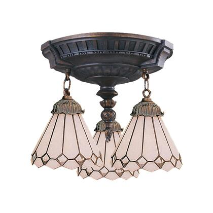 997-AW-04 Mix-n-Match 3-Light Semi Flush in Aged