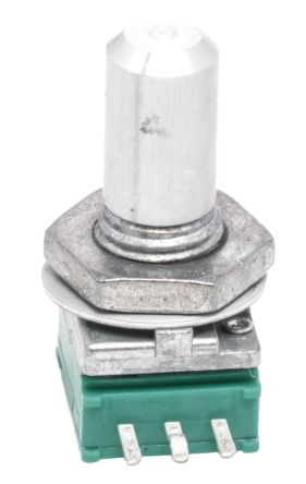 Alps Alpine 1 Gang Rotary Potentiometer with an 6 mm Dia. Shaft - 10kΩ, ±20%, 0.05W Power Rating, Through Hole