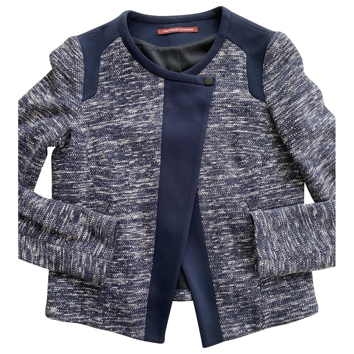 Comptoir Des Cotonniers - Veste   pour femme en coton - bleu