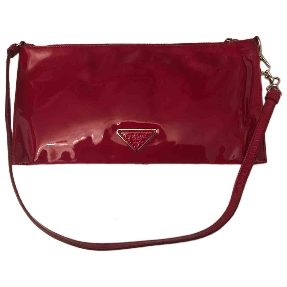 Prada \N Red Patent leather Clutch bag for Women \N
