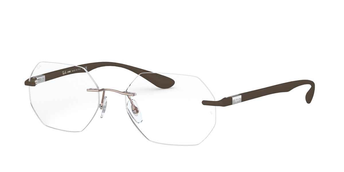 Ray-Ban RX8765 1131 Men's Glasses Brown Size 53 - HSA/FSA Insurance - Blue Light Block Available