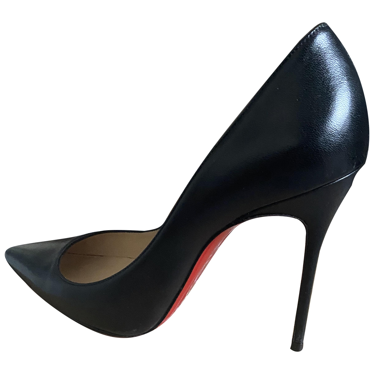 Christian Louboutin So Kate  Black Leather Heels for Women 39.5 EU