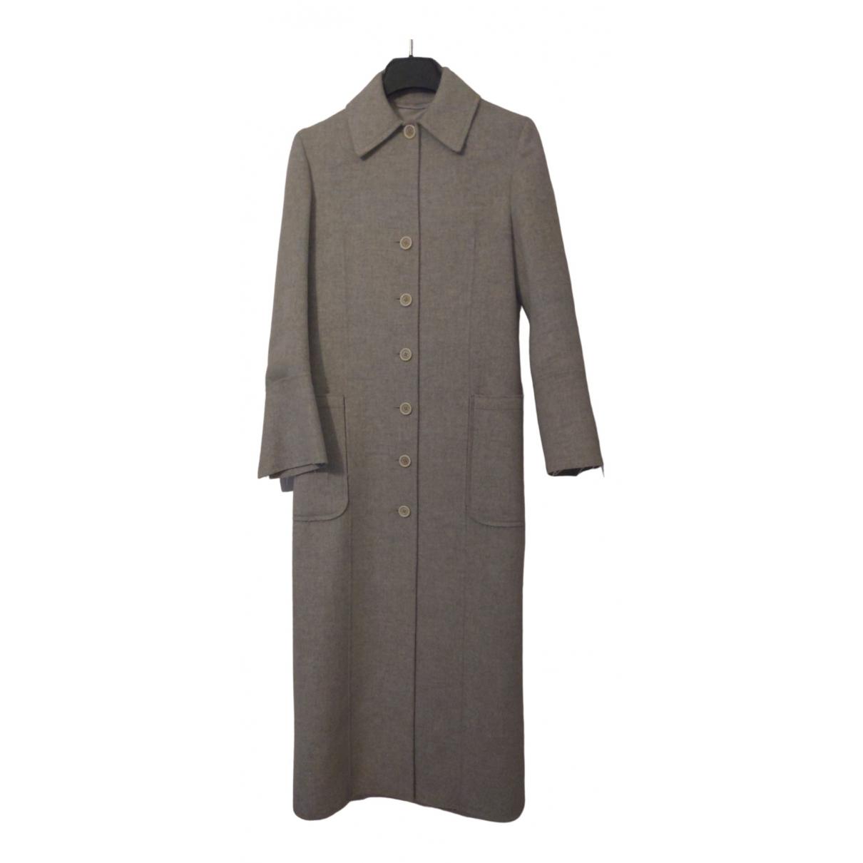 Helmut Lang - Manteau   pour femme en cachemire - gris