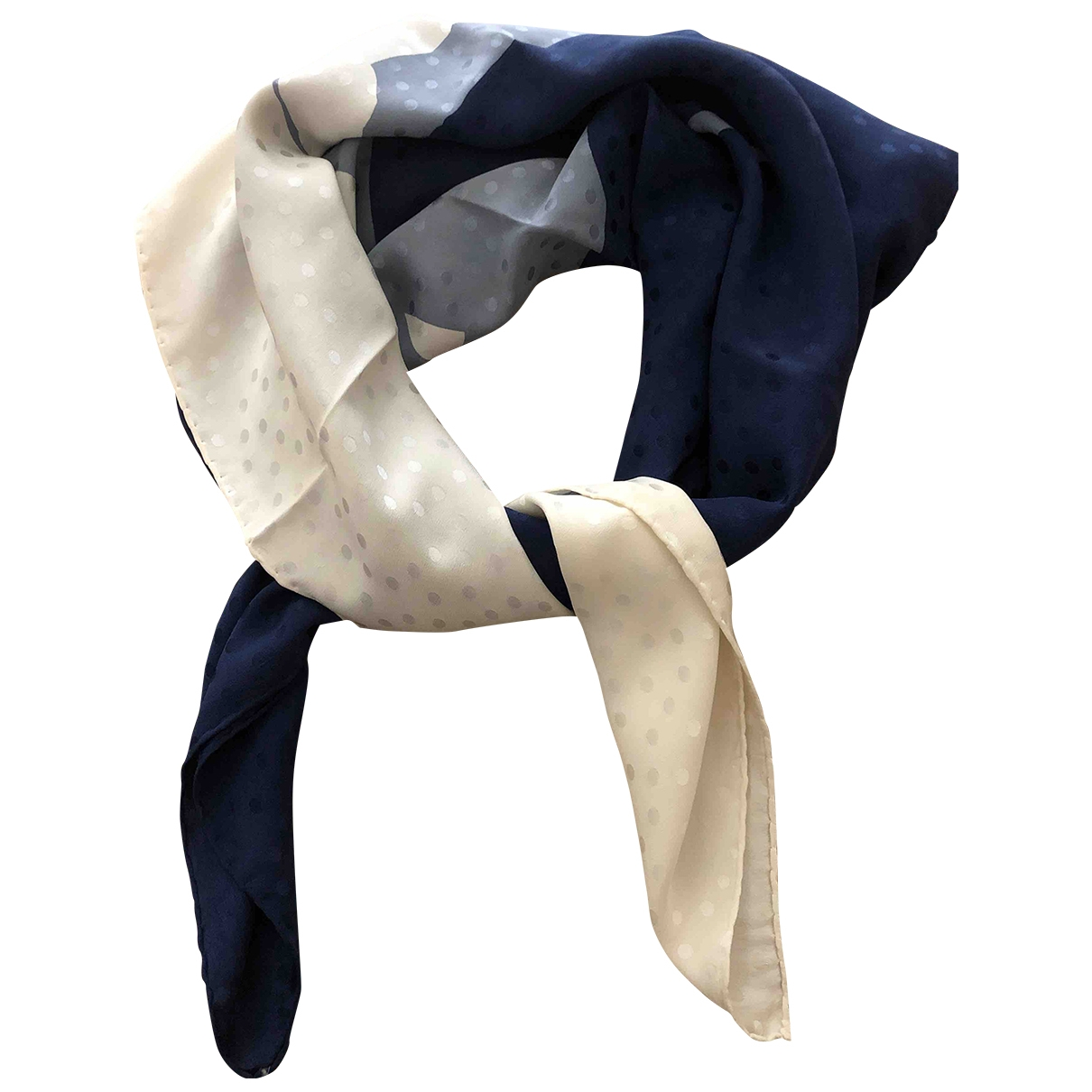 Balmain \N Blue Silk Silk handkerchief for Women \N