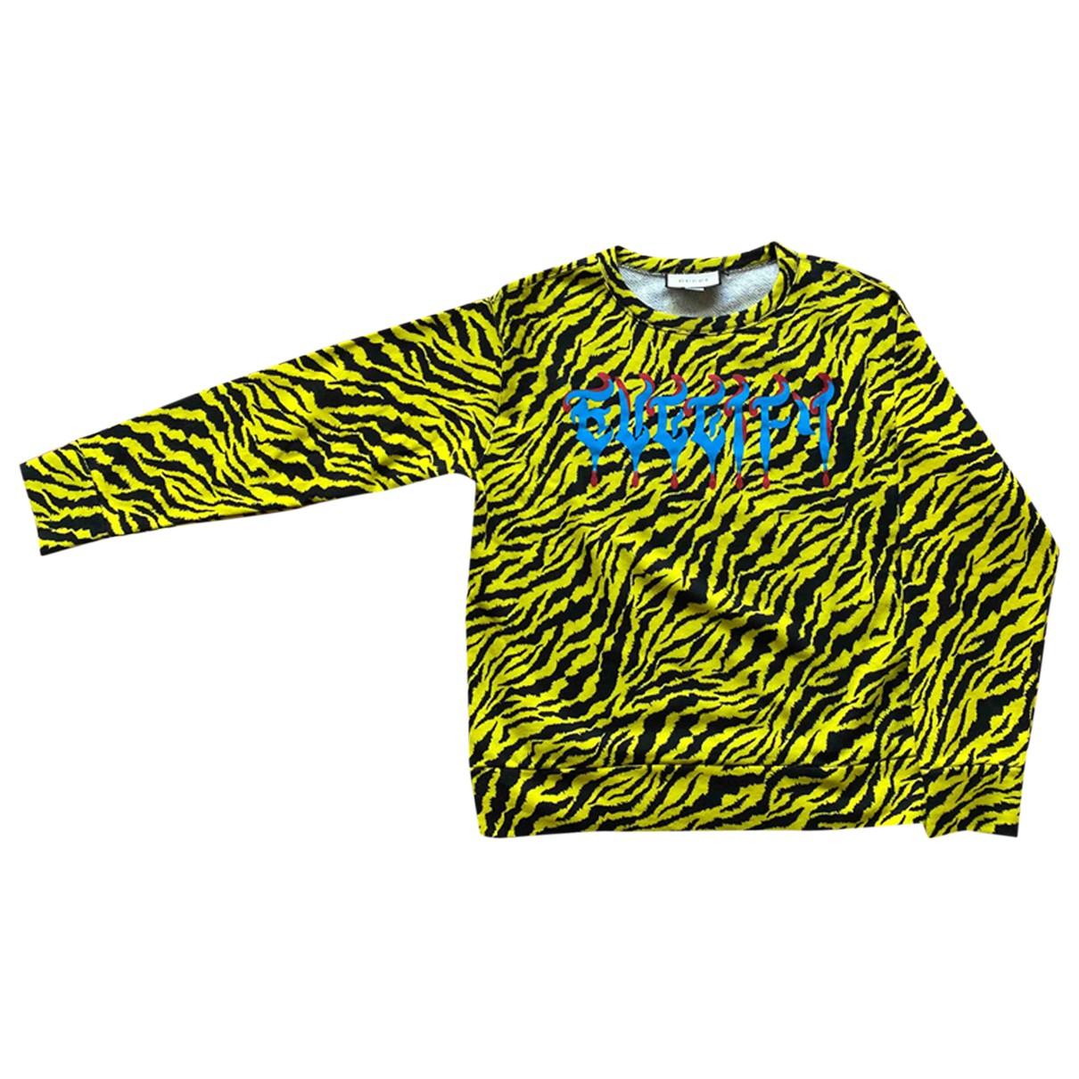 Gucci \N Pullover.Westen.Sweatshirts  in  Gelb Baumwolle