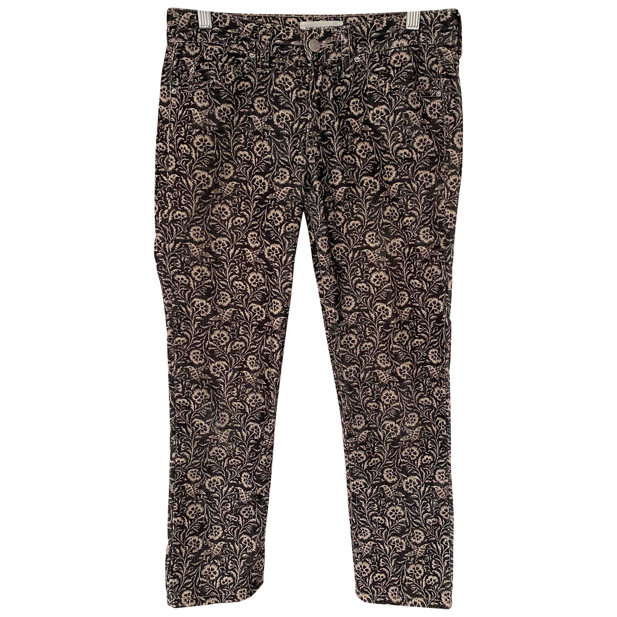 Isabel Marant Etoile \N Anthracite Cotton Trousers for Women 36 FR