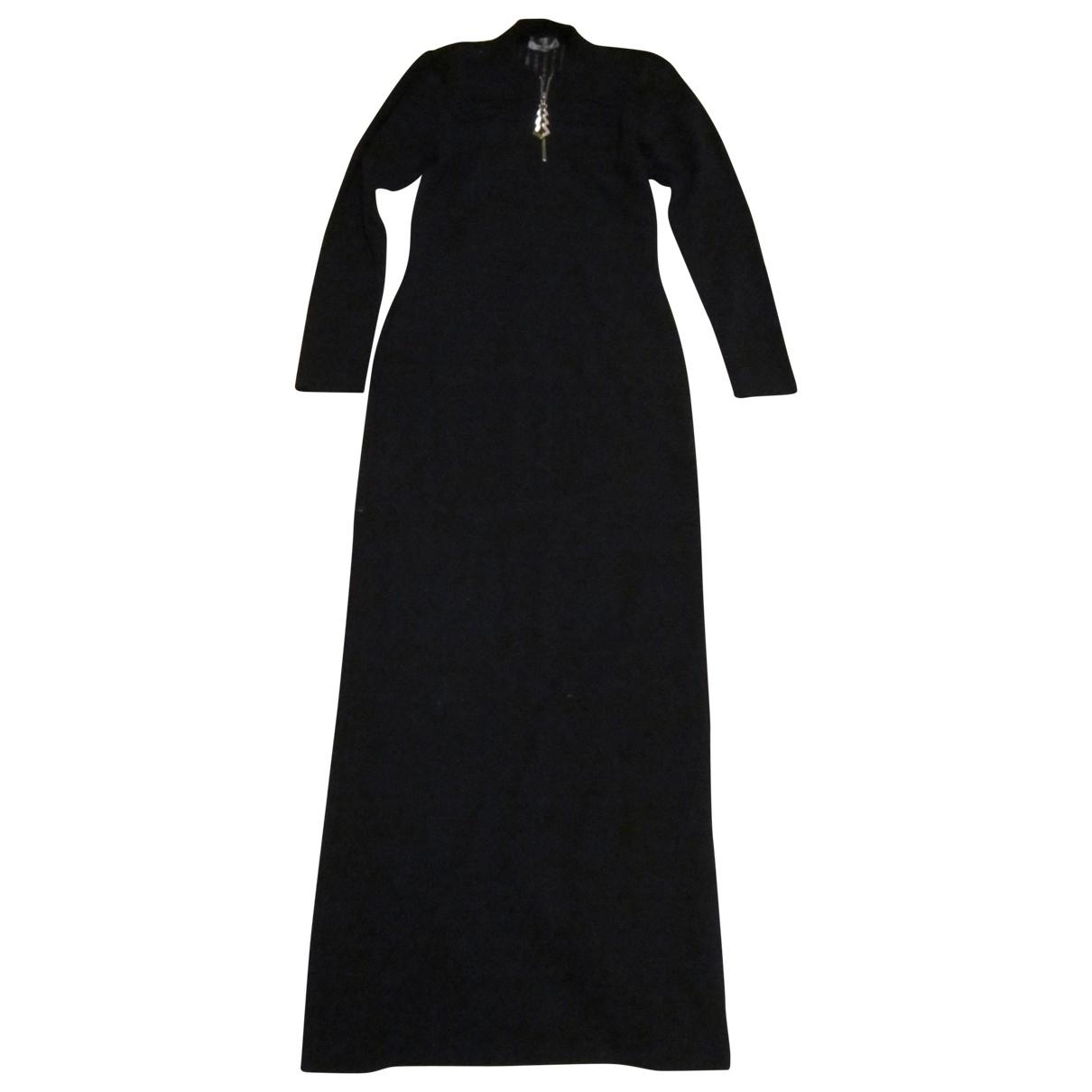 Paco Rabanne \N Kleid in  Schwarz Wolle