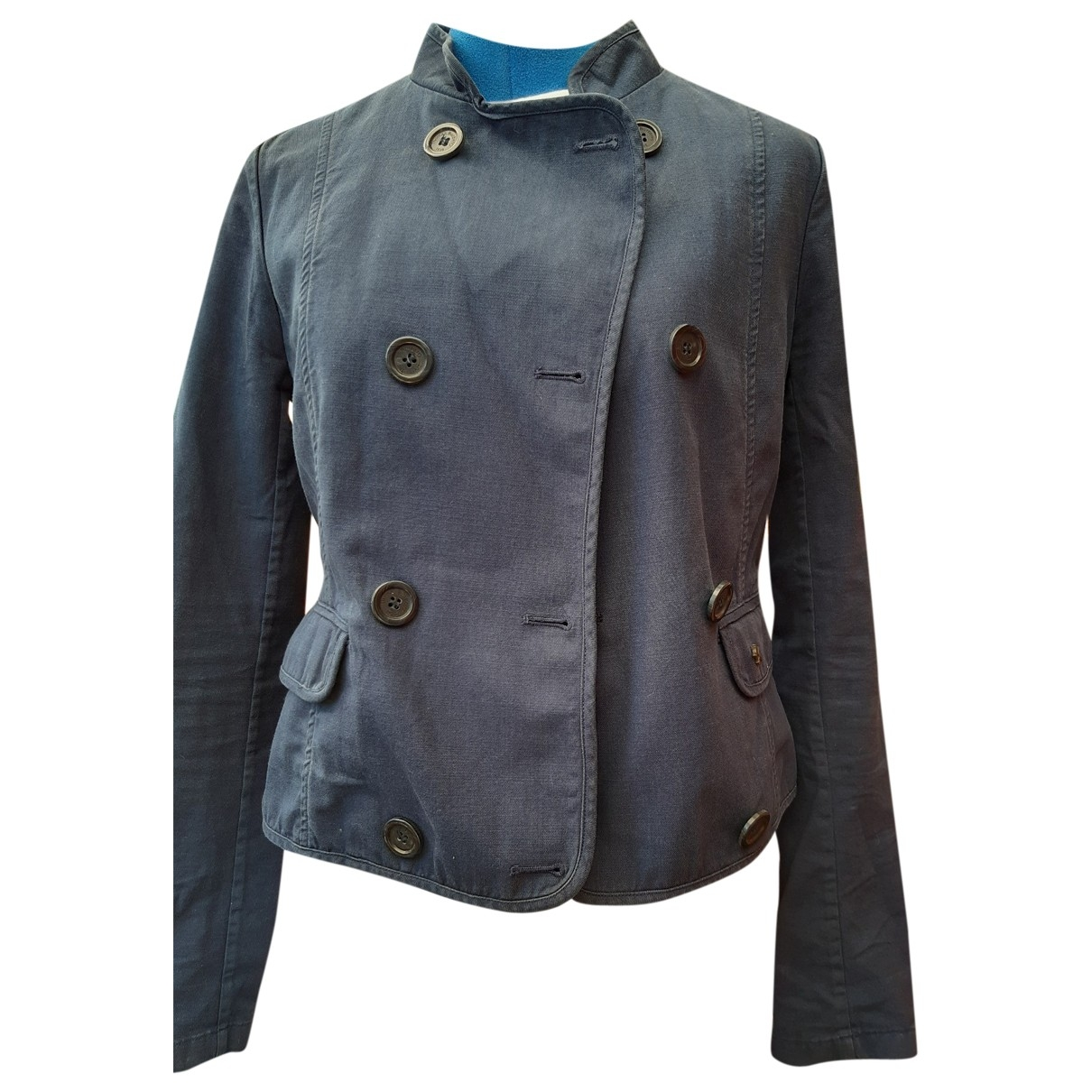 Burberry \N Blue Cotton jacket for Women S International