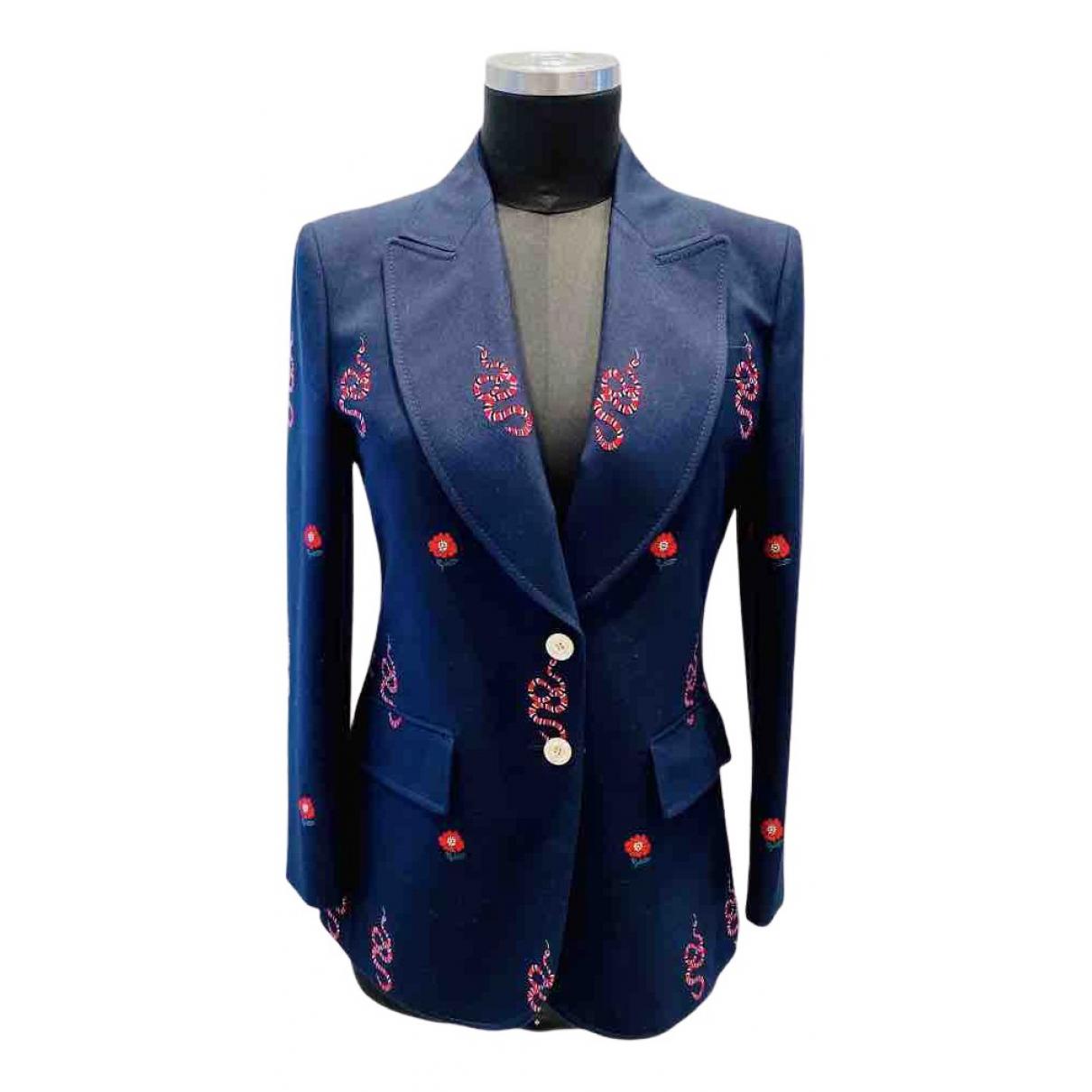 Gucci N Navy Wool jacket for Women 42 IT