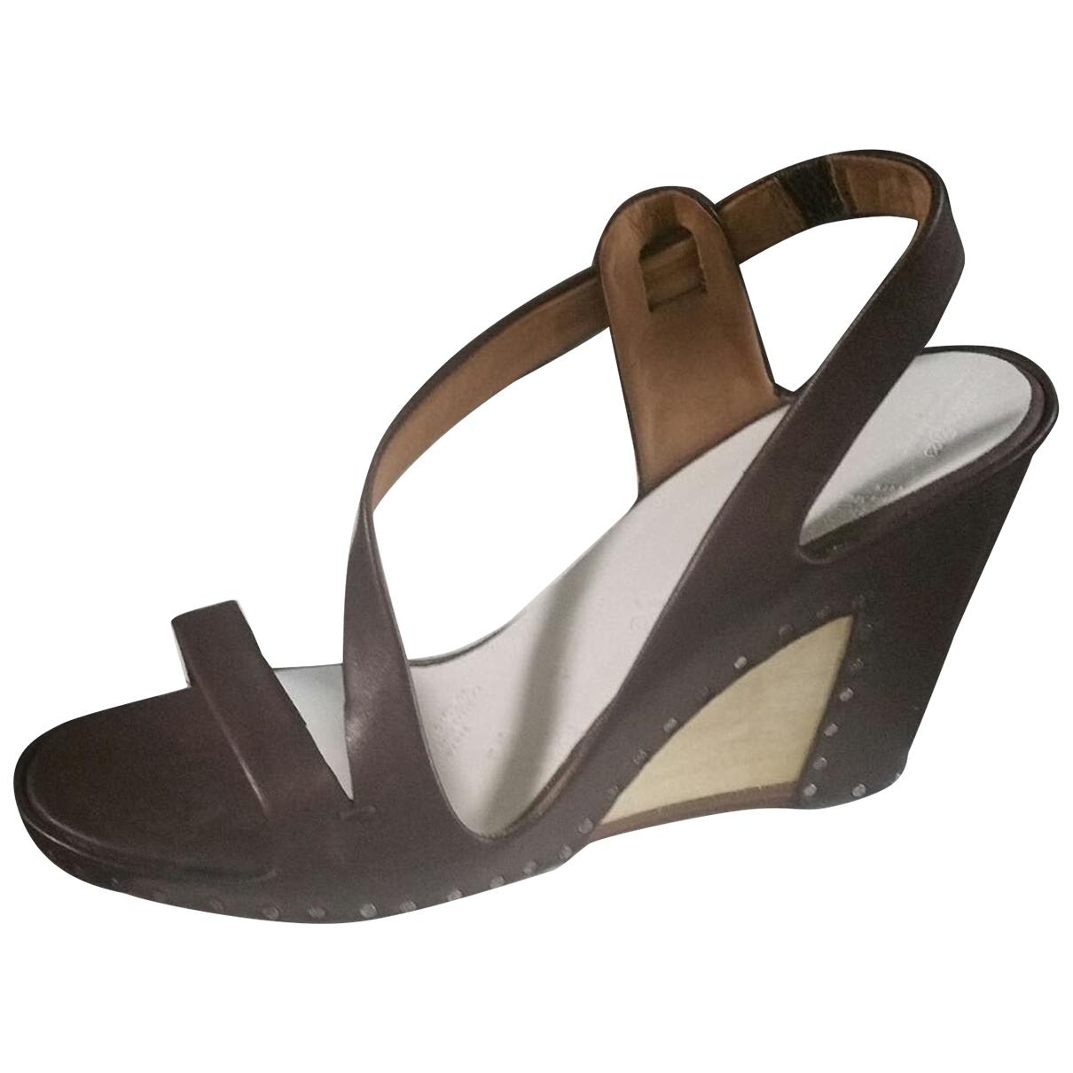 Maison Martin Margiela \N Brown Leather Sandals for Women 37.5 EU