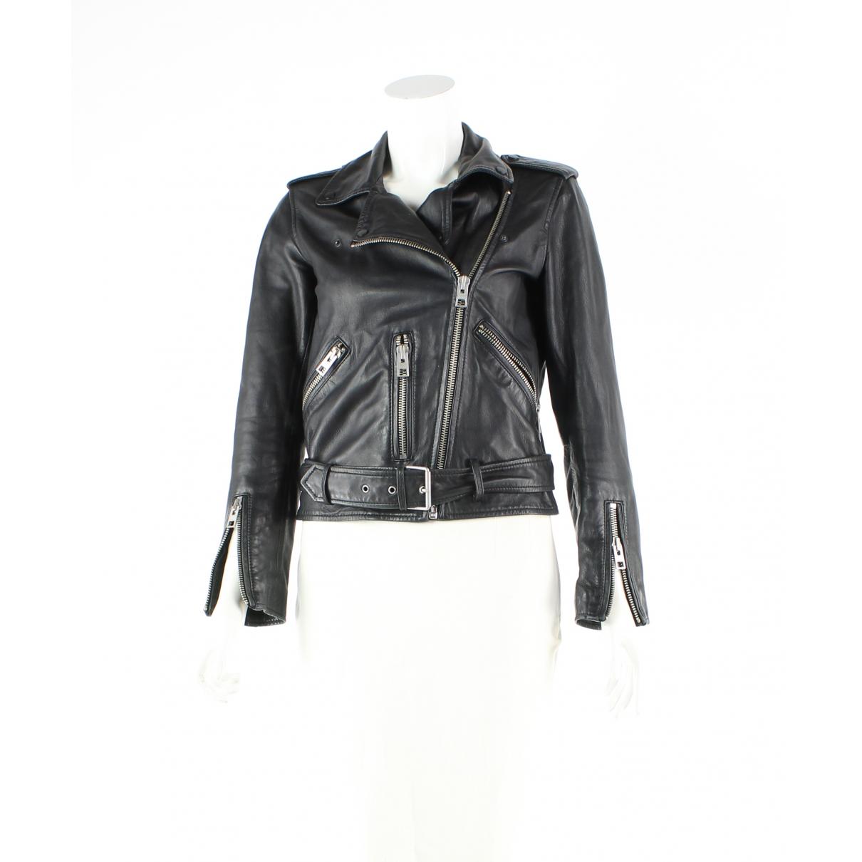 Iya Australia - Veste   pour femme en cuir - noir
