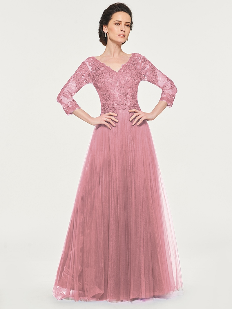 Ericdress 3/4 Sleeve Appliques Mother Of The Bride Dress