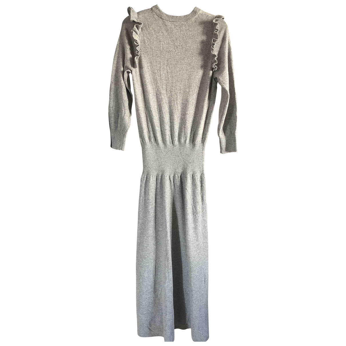 Non Signe / Unsigned \N Kleid in  Grau Wolle